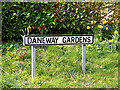 TM4461 : Daneway Gardens sign by Geographer