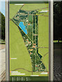 TQ3377 : Plan of Burgess Park on a sign by Robin Stott