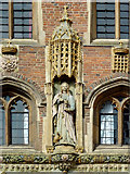 TL4458 : The Great Gate (detail) at St John's College, Cambridge by Roger  Kidd