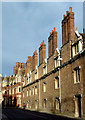 TL4458 : College buildings in Pembroke Street, Cambridge by Roger  Kidd