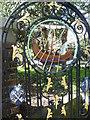 TQ6573 : The gate to Milton Churchyard by Marathon