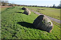 SO8835 : Hay bales on a floodbank by Philip Halling