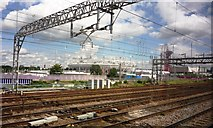 TQ3783 : Olympic Park from railway line on 29 July 2012 by Clint Mann