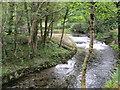 SH5456 : Weirs on Afon Gwyrfai by Peter Holmes