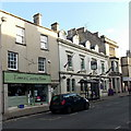 ST8893 : Newsagents and hotel in Long Street Tetbury by Jaggery