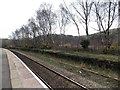 ST0896 : Disused second platform at Quakers Yard railway station by Jaggery