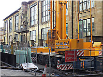 NS5865 : Glasgow School of Art extension construction crane by Thomas Nugent