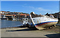 NZ8910 : Boat hauled up by Pauline E