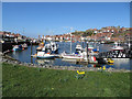 NZ9010 : River Esk, Whitby town by Pauline E