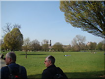 TQ3286 : View of the Castle Climbing Centre from Clissold Park #2 by Robert Lamb