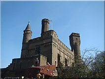 TQ3286 : View of the Castle Climbing Centre from the centre's car park by Robert Lamb