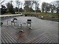 NT2475 : John Hope gateway building restaurant deck being refurbished by Steve  Fareham