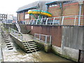 TQ4379 : Stairs and Slipway into the River Thames, Woolwich by Chris Whippet