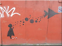 TM1644 : Girl blowing bubbles on St. Margaret's Street by Hamish Griffin