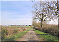 SP6335 : Un-named lane southwest of Huntsmill Farm by Stuart Logan