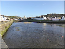 SN4562 : Aberaeron Harbour in March 2014 by Jeremy Bolwell
