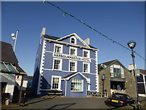 SN4562 : The Harbourmaster Hotel, Aberaeron by Jeremy Bolwell