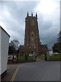 ST0207 : Tower and churchyard of St Andrew's, Cullompton by David Smith