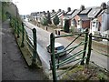 SX9194 : Steps down from the pavement, Cowley Bridge Road by Christine Johnstone