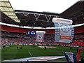 TQ1985 : The Posh at Wembley - Before the kick off by Richard Humphrey