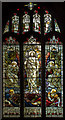 SK8736 : Stained glass window, All Saints' church ,Barrowby by J.Hannan-Briggs