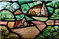 TQ7320 : Detail of East window, All Saints' church, Mountfield by Julian P Guffogg