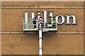 J3474 : Sign maintenance, Hilton Hotel, Belfast by Albert Bridge