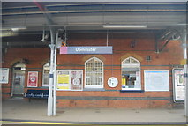 TQ5686 : Upminster Station sign by N Chadwick
