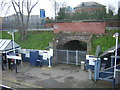 TQ1978 : Kew Bridge station: unused arch to other line by Christopher Hilton