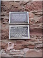 NO8785 : Commemorative plaques on Stonehaven Tolbooth by Stanley Howe