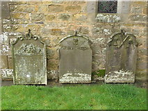 NY9371 : St. Giles Church, Chollerton - 18th C gravestones by Mike Quinn