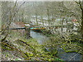 SE0420 : Sewer pipe bridge over the River Ryburn by Humphrey Bolton