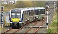 C9525 : Departure from Ballymoney station - April 2014(1) by Albert Bridge