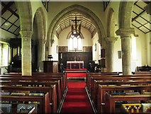NY9371 : St. Giles Church, Chollerton - nave by Mike Quinn
