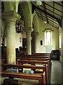 NY9371 : St. Giles Church, Chollerton - south aisle by Mike Quinn