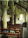 NY9371 : St. Giles Church, Chollerton - south aisle by Mike Quinn