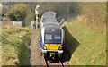 C9425 : Train approaching Ballymoney station (April 2014) by Albert Bridge