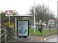 NT1184 : Bus stop at Rosyth Station by M J Richardson