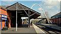 C9425 : Platforms, Ballymoney railway station (April 2014) by Albert Bridge