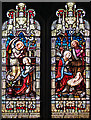TQ9388 : St Mary, Little Wakering - Stained glass window by John Salmon