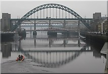 NZ2563 : Bridge over the Tyne by Dave Pickersgill
