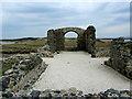 SH3862 : Ruins of Llanddwyn Chapel by Chris Heaton