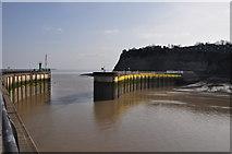 ST1972 : Cardiff : Breakwaters by Lewis Clarke