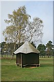 TQ2354 : Golfers' shelter by Hugh Craddock