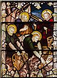 TQ9220 : Stained glass window detail, St Mary's church, Rye by Julian P Guffogg
