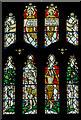 TQ9220 : Detail, East window, St Mary's church, Rye by Julian P Guffogg