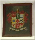 NY9371 : St. Giles Church, Chollerton - coat of arms by Mike Quinn