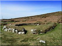 SH2181 : Hut Group on Holyhead Mountain by Chris Heaton