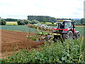SP1740 : Ploughing at Rye Piece Farm by Nigel Mykura