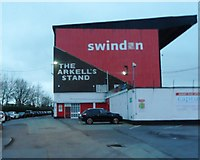 SU1585 : The Arkell's Stand - Swindon Town Football Club by Anthony Parkes
